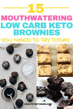 Are you craving for some chocolate in your keto diet? Try these 15 delicious low carb keto brownies. These easy brownies contain coconut flour, protein powder, avocado, almond butter, peanut butter and cream cheese. They are incredibly fudgy while being flourless. #ketodesserts #ketobrownies #avocadobrownies #lowcarbbrownies #ketodiet #ketosweets #flourlessbrownies