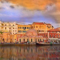 Old Port of Chania, Crete, Greece