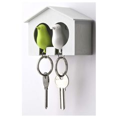 Sparrow In Bird House Key Ring Holder by Frolic and Cheer, the perfect gift for Explore more unique gifts in our curated marketplace.
