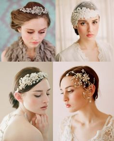 #headpieces #lace #pearls #weddingCaps #diamontes #vintage #beautiful