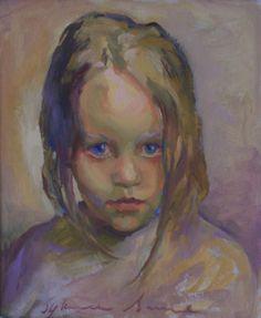 Julka, oil on card, 30cm x 25.5cm