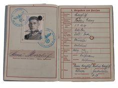 Major Xaver Marzluf Soldbuch. Carte d'identité.