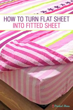 Duvet covers and fitted sheets never come in the same package. Flat bed sheets slip, no matter how hard you try to tuck them in. Turn your flat sheets into fitted sheets w/ 2 different methods: stylish or simple. A photo tutorial with step by step DIY instructions on how to turn your flat sheets into fitted sheets.