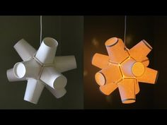 Paper cup lamp DIY - best out of waste project - EzyCraft - YouTube