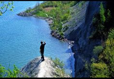 Amazing view at Scarborough Bluff, Ontario , Canada great hiking place with incredible view . Scarborough Bluffs, Hiking Places, Ontario, Places To Visit, Canada, The Incredibles, Water, Outdoor, Amazing