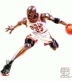 Another great Michael Jordan caricature piece from by Wang Tao. More artwork by Wang Tao here. Michael Jordan Art, Michael Jordan Pictures, Michael Jordan Basketball, Basketball Is Life, Basketball Pictures, Sports Pictures, Basketball Players, Bulls Basketball, Kevin Durant