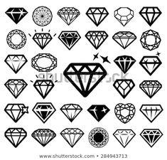 Vector illustration of vector art illustration Diamond icons set. Vector illustration of vector art illustration Diamonds Tattoo, Diamond Finger Tattoo, Finger Tattoos, Small Diamond Tattoo, Diamond Tattoo Men, Simbolos Tattoo, Hand Tattoo, Diamond Icon, Diamond Art
