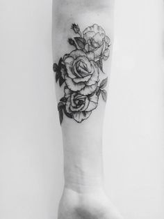 Forearm Rose Tattoo for Lady: