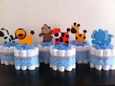 mini jungle diaper cakes set of 6 safari baby shower baby shower ce mini diaper baby shower favors 570x426