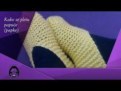 Heklane papuče - popke, pape ili priglavci (Crochet Slippers) - YouTube