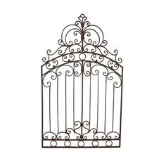 Wrought Iron Metal 50″ Tuscan Garden Gate Wall Grille