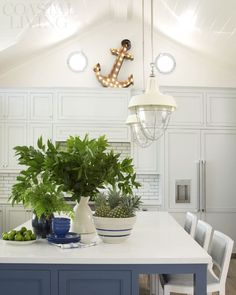 Kitchen with Anchor | Coastal Living Showhouse