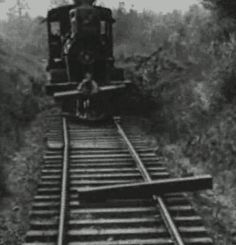 My first gif attempt - One of Buster Keaton's best stunts in The General - Imgur