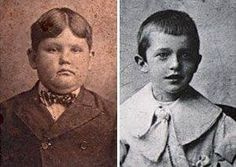 Oliver Hardy and Stan Laurel as young boys.
