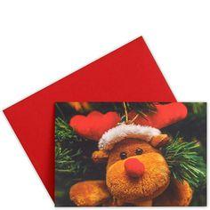 CARD Teddy Hänger    Traditionelle Weihnachtsmotive in hochwertiger fotografischer Umsetzung - da kommt festliche Stimmung auf. Die Klappkarten sind innen blank, ein passender Umschlag gehört dazu. Wählen Sie aus verschiedenen Winter- bzw. Weihnachtsmotive Ihre persönlichen Favoriten.    Größe: Breite 15,5 x Höhe 11,2 cm...