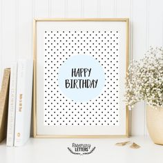 Happy Birthday Printable, birthday decor, happy birthday sign, Birthday party decorations, Birthday Printable Banner, 8x10 Instant Download