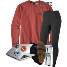 A fashion look from February 2018 featuring NIKE, Birkenstock sandals and J. Browse and shop related looks. Cute Lazy Outfits, Cute Outfits For School, Simple Outfits, Outfits For Teens, Trendy Outfits, Summer Outfits, Simple College Outfits, Lazy Winter Outfits, Lazy School Outfit