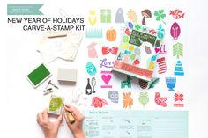 Holiday Carve-A-Stamp Kit