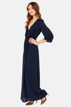 Wrapped in Romance Navy Blue Maxi Dress at LuLus.com!