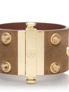 Theophile Suede Crystal Stud Bracelet | Womens Bracelets