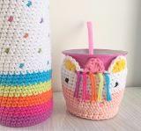 Funda Tejida A Crochet Con Base Termo Bala De 1 Litro Mate - $ 350,00