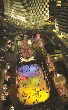 Campus Martius Park at Christmas, Detroit, MI