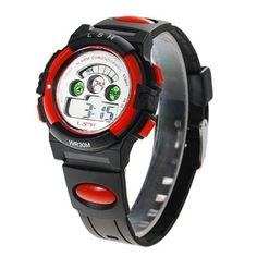 Waterproof  Watch with Round Alarm Clock Round Dial and Silicon Band #jewelry, #women, #men, #hats, #watches