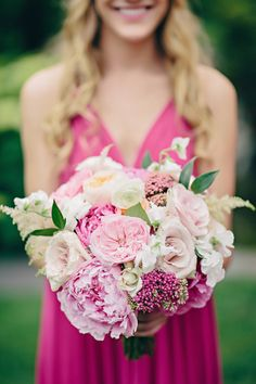 Shades of pink Wedding Bouquet ~ K. Holly Photography, Modern Day Floral And Event Design