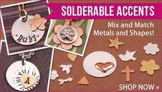 Learn to solder for free! Solderable accents from Beaducation #diy #jewelry #soldering