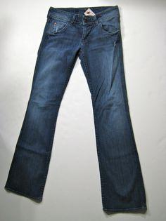 HUDSON Medium Stretch Distressed Boot Cut Denim Jean Size 28 #Hudson #Bootcut
