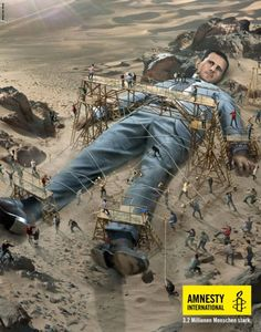 Amnesty International Schweiz: you are powerful when doing it together with 3.2 million Amnesty International donors.  This print ad: Bashar Hafez al-Assad.