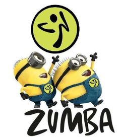I would do zumba more often(I can only do zumba gold at home...by myself :(...dang broken back!) if the minions did it with me!