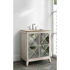 ESCHER SINK CHEST - Ambella Home  #Vanity #Bathroom #Furniture #Mirror
