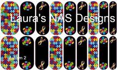 Autism 2  #NAS #Jamberry #NailArtStudio #NailArt #DIY #laurasnasdesigns