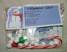 Snowman Soup - Easy and cheap