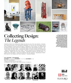 Collecting Design: The Legends, Fall 2020 Educational Programs, Contemporary, Modern, First Time, Legends, Calendar, York, Architecture, Fall