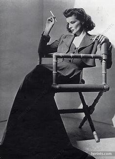 Katharine Hepburn 1940 Portrait, Cigarette Holder