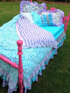 Hey, I found this really awesome Etsy listing at https://www.etsy.com/listing/163244219/custom-bedding-purple-aqua-chevron