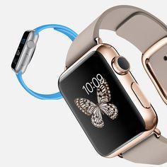 Apple - AppleWatch - Caja de 38 mm en oro rosa de 18 quilates con correa gris rosado (L) el amor a primera vista existe