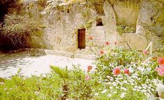 The Garden Tomb where Jesus was laid to rest.