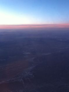Flying through the sunset - leaving California and heading back to Toronto