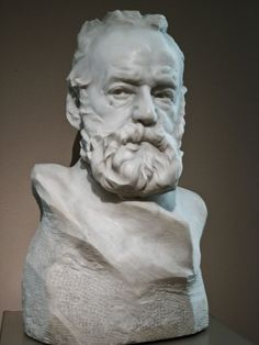 Bust of Victor Hugo - Auguste Rodin (? Camille Claudel, Auguste Rodin, Traditional Sculptures, French Sculptor, Pottery Sculpture, Modern Sculpture, Les Oeuvres, Sculpting, Victor Hugo