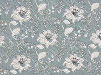 Livia Azurro | Dauphine | Printed Silk | Romo Fabrics | Designer Fabrics & Wallcoverings, Upholstery Fabrics