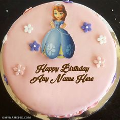 Stylish Birthday Cake Editing Online With Name Photo