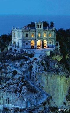 Church Of Santa Maria dell'Isola at dusk, Tropea, Calabria, Italy BookMyTicket | India's No 1 Travel Site Book Flights, Hotels, Holiday Packages, Visa, Passport, Movie, Resorts, Bus Tickets www.bookmyticket.com or just give us MISSCALL 022–66209999