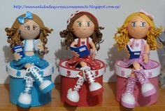 Old Tires, Ideas Para, Smurfs, 3 D, Projects To Try, Dolls, Christmas Ornaments, Holiday Decor, Crafts