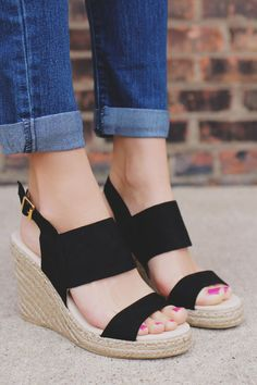 Smooth Sailing Wedge - Black · Women's Clothing BoutiquesEspadrille  WedgeShoes ...