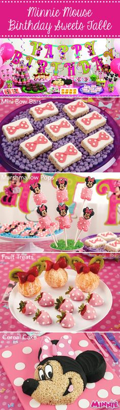 Host a Minnie Mouse birthday party with these sweet treats from @partycity !