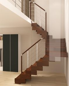 Wooden Open #staircase TRASFORMA DESIGN by RINTAL #interiors