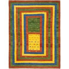 @Overstock - This abstract wool rug offers a contemporary edge to your current home decor. The simplistic style features shades of blue, green, beige, and rust colors. The Southwestern pattern and one-inch pile make this rug a comfy, yet casual home addition.http://www.overstock.com/Home-Garden/Hand-knotted-Gabeh-Passage-Multi-Wool-Rug-3-x-5/6054830/product.html?CID=214117 $80.74